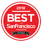 2018 best of san francisco magazine winner